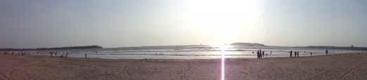 Famous Miramar Beach in Goa