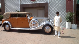 Rolce Royce from Rajkot along with a Cartier's attendant