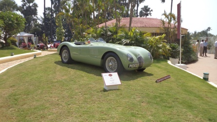 A Jaguar 1952 Type C make owned by Richard Frankel